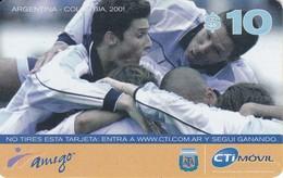 TARJETA DE ARGENTINA DE FUTBOL (FOOTBALL)  ARGENTINA-COLOMBIA 2001 - Argentina