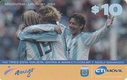 TARJETA DE ARGENTINA DE FUTBOL (FOOTBALL)  ARGENTINA-URUGUAY  2004 - Argentina