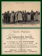 CPA PUB Reims Au Parapluie Rouge Guillaume II Et Le Grand Etat-Major Guerre 1914 (trous Punaises Sinon BE) - Reims