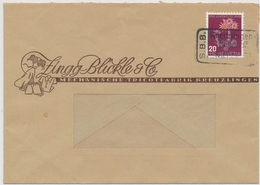 J119 / 477 Einzelfrankatur Auf Firmen Brief ZINGG BLICKLE & Co Gestempelt Mit Bahnpoststempel KREUZLINGEN BAHNHOF - Pro Juventute