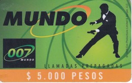 TARJETA DE COLOMBIA DE 007 DE $5000 (con Marca De Doblez) - Kolumbien