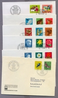 Switzerland Helvetia Suisse Schweiz 1956 - 1984 6 FDC S Pro Juventute Collection Insects Flowers Animals Fairy Tales - Pro Juventute