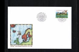 1997 - Aland Islands FDC Mi. 129 - Geography - Urban Planning - Kalmarer Union [JC057] - Aland