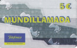 TARJETA DE ESPAÑA DE PREPAGO DE TELEFONICA DE MUNDILLAMADA - Espagne