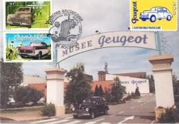 SOCHAUX - VOITURES ANCIENNES PHILEXJEUNES 2000 - ANNECY - MUSEE PEUGEOT - Passenger Cars