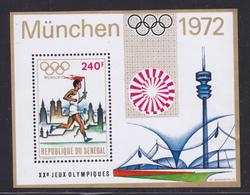 SENEGAL BLOC N°   10 (*) Neuf Sans Gomme, TB (CLR344) Jeux Olympiques De Munich, Sports, Porteur Du Flambeau - Sénégal (1960-...)