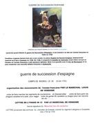 GUERRE DE SUCCESSION D'ESPAGNE. CAMPAGNE D'ITALIE. LETTRE DATÉE AU CAMP DE BAGNOL. TRÈS INTÉRESSANTE. - Marcofilia (sobres)