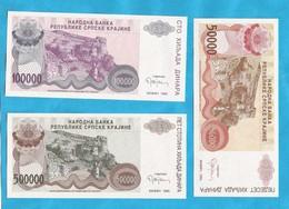 1993  KNIN  3   STUECK     RRR  SELTEN  KROATIEN CROAZIA  REPUBLIKA SRPSKA  KRAJINA LUX - Croatia