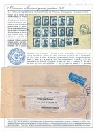 ESPAÑA. GUERRA CIVIL. MADRID A CHECOSLOVAQUIA. ESPECTACULAR FRANQUEO EN CORREO AÉREO. - 1931-50 Lettres
