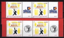 PERS 4 - FRANCE N° 3688A  2 Paires De ANNIVERSAIRE Logo Cérès Et Timbres Personnalisés Bas Et Haut De Feuilles - France