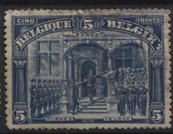 N°147 Obl. Faible 5 Franken. Sans Défaut. COB 170€ - 1915-1920 Albert I.