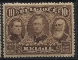 N°149 Charniere X 10 Francs. Sans Aminci. - 1915-1920 Albert I