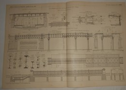 Plan Du Chemin De Fer Métropolitain De Paris. Ligne Circulaire De La Rive Droite. 1902 - Travaux Publics