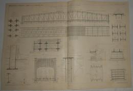 Plan Du Chemin De Fer Métropolitain De Paris. 1902 - Travaux Publics