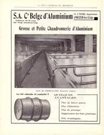 Pub Reclame - S.A. Cie Belge D'Aluminium - Angleur Lez Liège - Brasserie Caulier - 1932 - Publicités