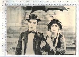 "BUSTER KEATON (MOVIE ""College"" 1927.) - Vintage LOBBY CARD - MINI POSTER (VF2-10) - Cinema Advertisement"