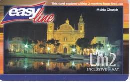 TARJETA DE MALTA DE MSIDA CHURCH DE Lm2  (IGLESIA) - Malta