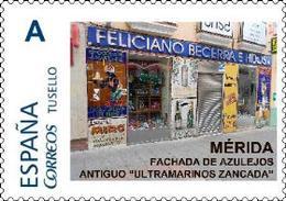 "Spain 2018– España ""Tu Sello"". Sello Personalizado De La Fachada Antiguo Ultramarinos Zancada - Francobolli"