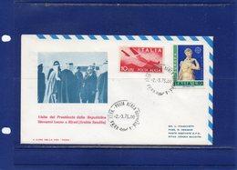 ##(DAN186/1)-1975-Visita Del Presidente Della Repubblica Giovanni Leone A Riyad-Arabia Saudita-busta Commemorativa - 1971-80: Storia Postale