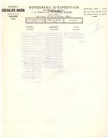Factuur Facture - Brouwerij Brasserie Chevalier Marin - Malines Mechelen 1956 - Bélgica
