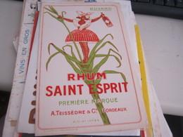 BUVARD PUBBLICITARIA RHUM - Liqueur & Bière