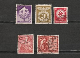 Lot 5 Timbres - Allemagne - Deutsches Reich - Croix Gammee - Germany