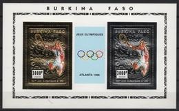 Burkina Faso (1995) Mi. Bl. 153A  /  Tenis - Tennis - Unusual Gold & Silver - Tennis