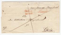 Austria Prephilately Letter Cover Travelled 1841? To Eszeg Pmk. Franco B180625 - ...-1850 Vorphilatelie