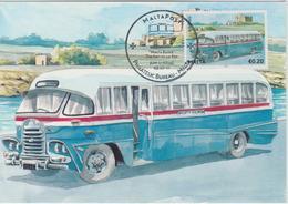 Malta Maximum Card 24 Mi 1673 Buses - The End Of An Era - Federal Bus, Kalafrana - Malta