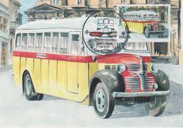 Malta Maximum Card 25 Mi 1674 Buses - The End Of An Era - Dodge T110L, Siggiewi - Malta