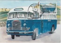 Malta Maximum Card 26 Mi 1675 Buses - The End Of An Era - Indiana Bus, Rabat - Malta