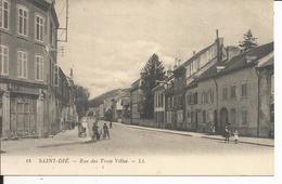 88 - SAINT DIE - Rue Des Trois Villes  (Animée) - Saint Die