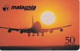 TARJETA DE ESPAÑA DE SPRINT DE MALAYSIA AIRLINES EXPIRES 10/96 (AVION-PLANE) - Sin Clasificación