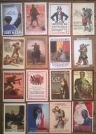 Lot De 16 Cartes Postales GUERRE 39/45 Propagande Militaire /b - War 1939-45