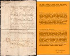 1 1488 - Copia Manoscritta, Coeva All'originale, Di Una Lettera Del Duca Di Milano Gian Galeazzo Maria... - Autographs