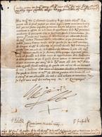 "2 1550 - CARLO D'ASBURGO - Lettera A Firma Di Carlo V D'Asburgo, ""jo El Rey"", Imperatore Del Sacro Rom... - Autographs"