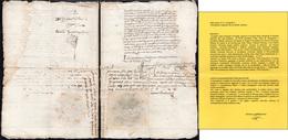 3 1569 - Atto Notarile In Cui Si Riconosce Nel Regno Di Napoli L'investitura Di Giovan Francesco Bello... - Autographs