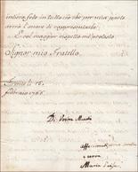 17 1766 - MARIA LUISA DI BORBONE - Lettera Da Firenze 15/2/1766 A Firma Di Maria Luisa Di Borbone, Mogl... - Autographs