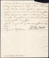 "18 1809 - GIOACCHINO MURAT - Lettera Datata Napoli 28/7/1809 Con Firma Autografa ""Joachin Napoleon"", (G... - Autographs"