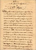 """19 1814 - Copia Manoscritta Del Discorso Su """"La Morte Di Napoleone"""" Di Lord Byron In 13 Pagine. Interes... - Autographs"""