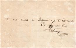 20 1820 - FRANCESCO I DI BORBONE - Lettera Autografa Di Francesco I Di Borbone, Re Delle Due Sicilie. R... - Autographs