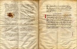32 1386/87 - Ternione Pergamenaceo, Composto Da Tre Bifoli Completi Relativi Alle Comunità Di Pietra, G... - Italy