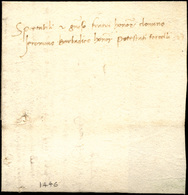33 1446 - Lettera Completa Di Testo Da Torcello 3/2/1446 Al Domino Jeromino Brebadico A Torcello, Relat... - Italy