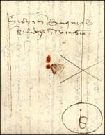 36 1458 - Lettera Completa Di Testo Da Firenze A Venezia, Con Gilda Mercantile Con Monogramma B. Rara.... - 1. ...-1850 Prephilately
