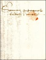 37 1458 - Lettera Completa Di Testo Da Firenze Luglio 1458 A Venezia.... - Italy