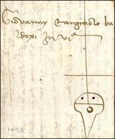 38 1459 - Lettera Completa Di Testo Da Napoli Marzo 1459 A Venezia, Con Gilda Mercantile. Rara!... - 1. ...-1850 Prephilately