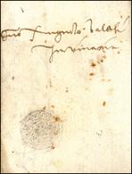 40 1466 - Lettera Completa Di Testo Da Napoli A Venezia, Con Sigillo Impresso A Secco. Rara!... - Italy