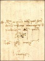 41 1479 - Lettera Completa Di Testo Da Padova 31/3/1479 A Venezia.... - Italy
