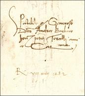 43 1482 - Lettera Completa Di Testo Da Verona A Torcello.... - Italy