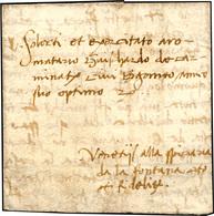 51 1494 - Lettera Completa Di Testo Da Lodi 2/11/1494, Indirizzata A Guiscardo Carminati, Speziale Di B... - Italy